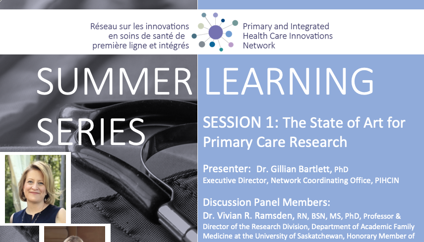 Summer Learning Series   Session 1: The State of Art for Primary Care Research